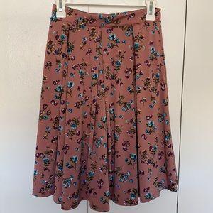 Mauve Floral Skirt 🌸